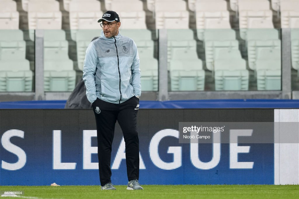 Nuno Espirito Santo, head coach of FC Porto, looks on during the FC Porto training on the eve of the UEFA Champions League football match between Juventus FC and FC Porto.