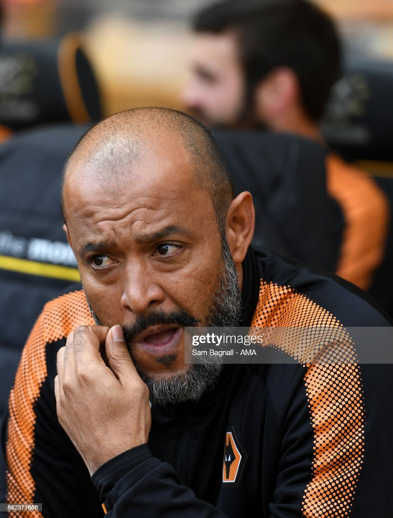 Nuno Espirito Santo manager / head coach of Wolverhampton Wanderers during the Sky Bet Championship match between Wolverhampton and Barnsley at Molineux on September 23, 2017 in Wolverhampton, England.