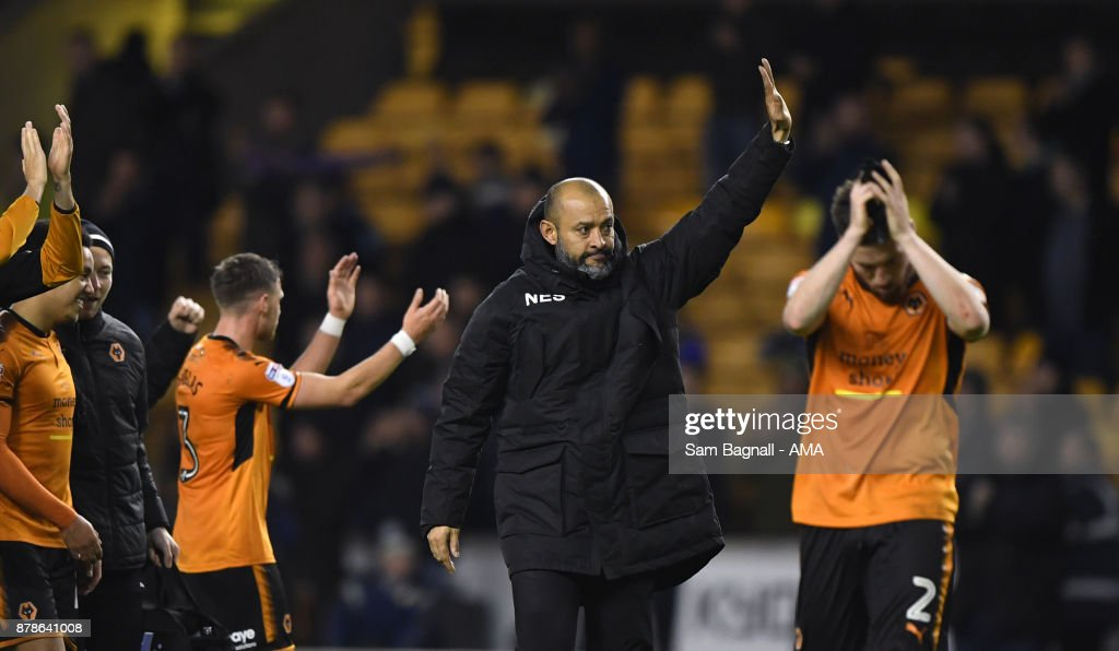 Nuno Espirito Santo manager / head coach of Wolverhampton Wanderers during the Sky Bet Championship match between Wolverhampton and Leeds United at Molineux on November 22, 2017 in Wolverhampton, England.