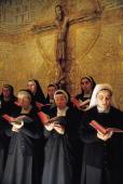 Nuns´ choir singing A choir of Benedictine nuns sings in the Convent of La Natividad