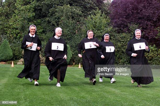 Nuns from the Benedictine Sisters from Kylemore Abbey in Connemara Sister Anna Sweeney Mother Clare Morley Sisters Karol O'Connell Dorothy Ryan and...