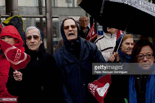 Nuns hold flags reading 'Zero Abortion' and 'Right To Live' during a ProLife demonstration against abortion on November 17 2013 in Madrid Spain