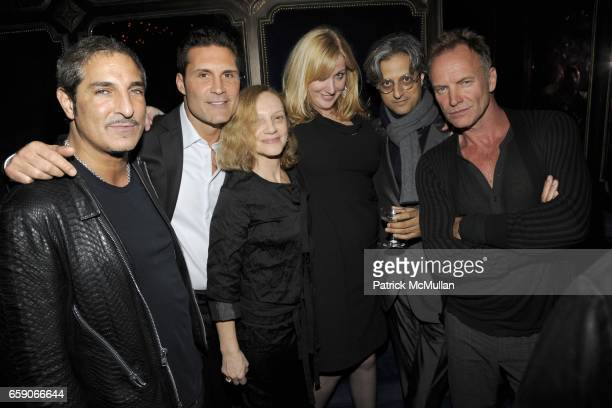 Nur Khan Adam Hock Nicoletta Santoro Amy Sacco Max Vadukul and Sting attend Grand Opening of THE GRIFFIN at The Griffin on April 30 2009 in New York...