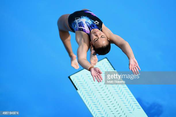 Nurdabitah Sabri of Malaysia warms up before the Women's 3m Springboard Final during the FINA Diving Grand Prix on November 1 2015 on the Gold Coast...