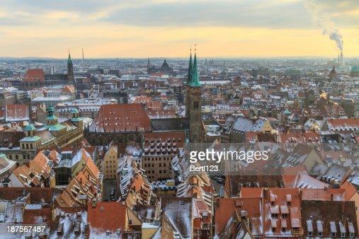 Nurember Blick auf die Stadt im winter Zeit : Stock-Foto