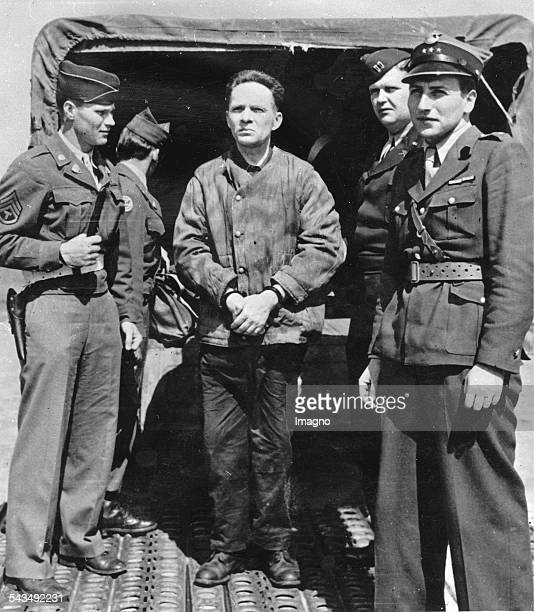 Nuremberg Trials Former commandant of the concentration camp Auschwitz Rudolf Höss at the airport in Nuremberg Germany Photograph 1946
