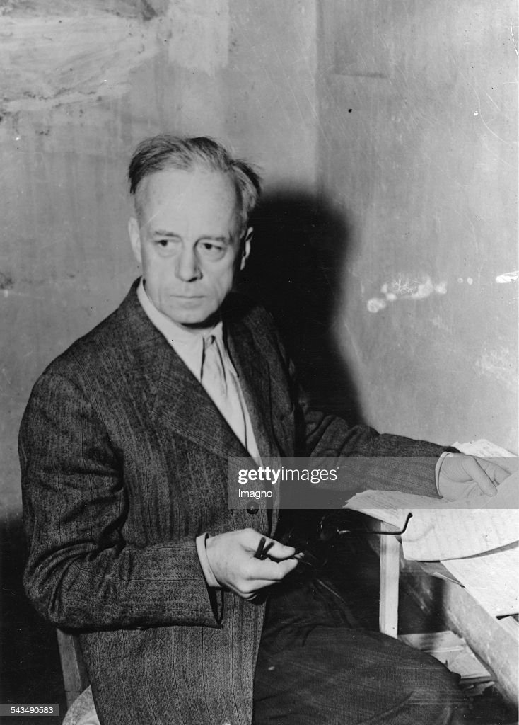Nuremberg Trials. Joachim von Ribbentrop in his cell. Joachim von Ribbentrop was Foreign Minister of the German Reich from 1938 until 1945. A businessman; he was appointed German Ambassador to Britain in 1936; serving in London. Arrested in June 1945, he was tried at the Nuremberg Trials and convicted of war crimes for his role in starting World War II and enabling the Holocaust. On 16 October 1946 he became- due to Hermann Göring's suicide moments before- the first of those sentenced to death to be hanged. Germany. Photograph. 1946.