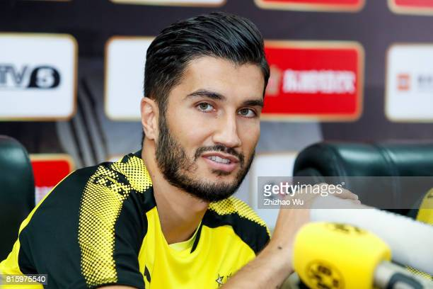 Nuri Sahin of Borussia Dortmund attends Press Conference at University Town Sports Centre Stadium on July 17 2017 in Guangzhou China