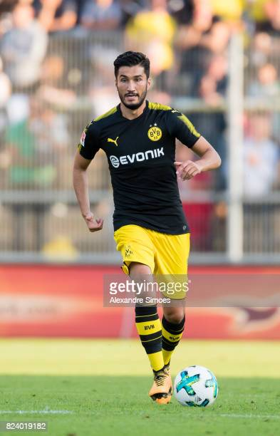 Nuri Sahin of Borussia Dortmund in action during a friendly match between Espanyol Barcelona and Borussia Dortmund as part of the training camp on...