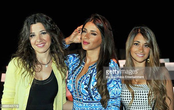 Nuria Cunillera Daniella Semaan and Antonella Roccuzzo attend the Rosa Clara fashion show during 'Barcelona Bridal Week 2014' on May 6 2014 in...