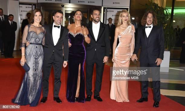 Nuria Cunillera Xavi Hernandez Daniella Semaan Cesc Fabregas Vanesa Lorenzo and Carles Puyol attend Lionel Messi and Antonela Rocccuzzo's wedding at...