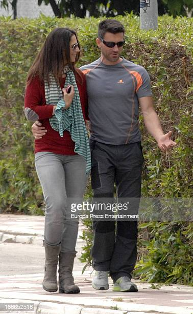 Nuria Fergo her boyfriend and personnal trainer Miguel are seen on April 19 2013 in Nerja Spain