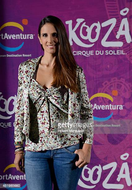 Nuria Fergo poses during a photocall for the premiere of 'Kooza' a Cirque du Soleil production at Portaventura on July 10 2014 in Salou Spain