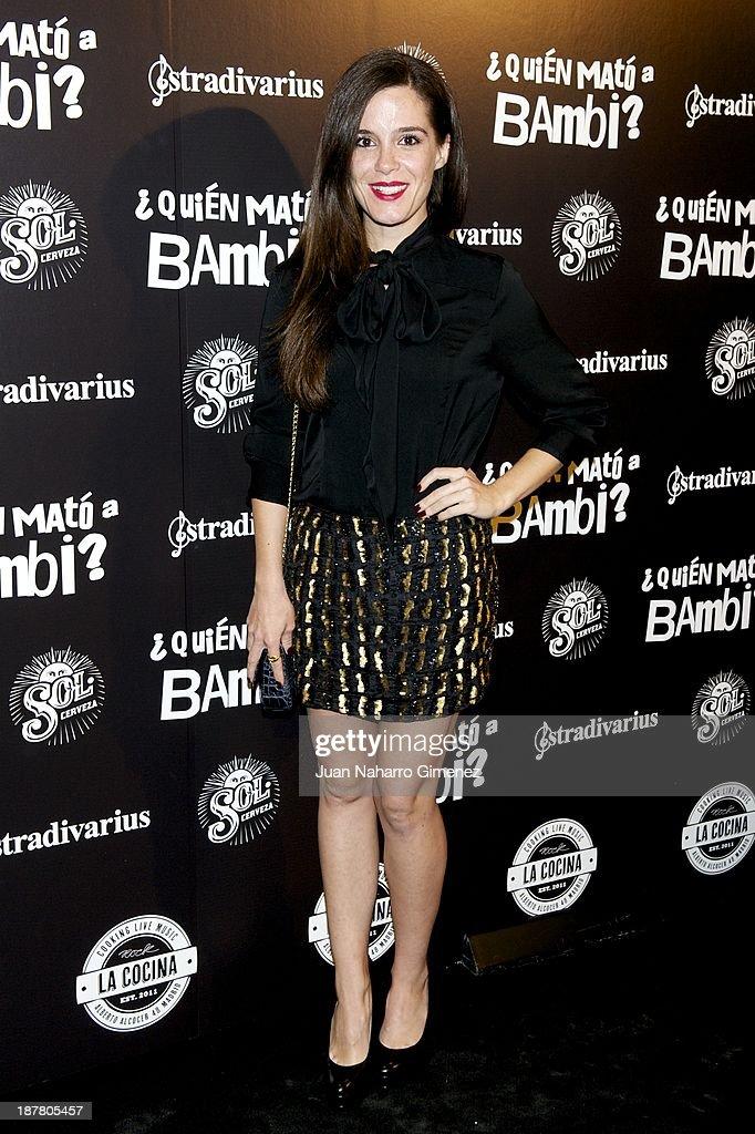Nuria Gago attends 'Quien Mato a Bambi?' premiere at La Cocina Rock Bar on November 12, 2013 in Madrid, Spain.