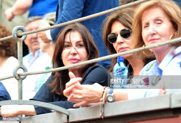 Nuria Gonzalez and Carmen Martinez Bordiu attend 'San Isidro' Bullfight Fair at Las Ventas bullring at Las Ventas Bullring on May 17 2017 in Madrid...