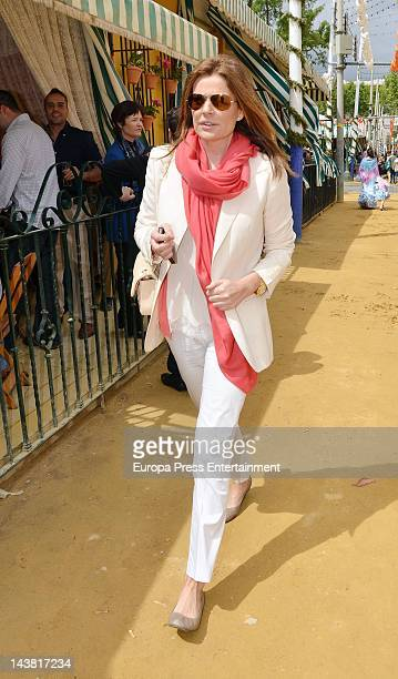 Nuria Gonzalez attends 'Feria de Abril 2012' the traditional Seville's Fair on April 27 2012 in Seville Spain