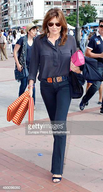 Nuria Gonzalez attends San Isidro Bullfighting Fair at Las Ventas Bullring on June 4 2014 in Madrid Spain