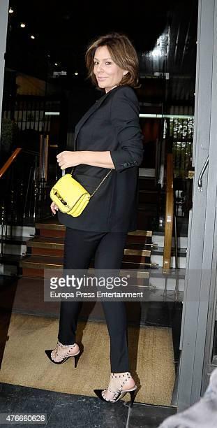 Nuria Gonzalez attends the babyshower party of Gemma RuizCuadrado on June 10 2015 in Madrid Spain