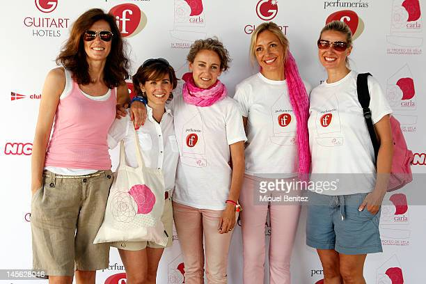 Nuria March Alejandra Martos Carla RoyoVillanova Marta Robles and Anne Igartiburu attend the 'IV Carla Bulgaria Roses Beauty Sailing Trophy' on June...