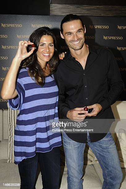Nuria Roca and Ivan Sanchez present 'U' the new Nespresso machine on June 20 2012 in Madrid Spain