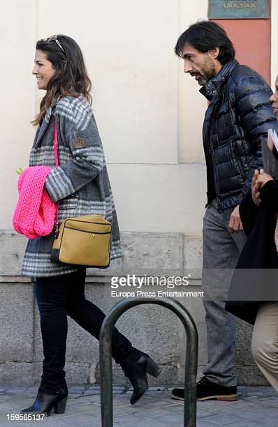 Nuria Roca and Juan del Val are seen on January 15 2013 in Madrid Spain