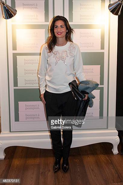 Nuria Roca attends the 'Bonnet A Pompon' Flagship Store Opening Party in Madrid on April 3 2014 in Madrid Spain