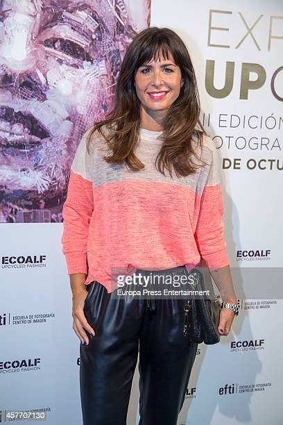 Nuria Roca attends 'Upcycling' Photogrpahy competition party photocall on October 22 2014 in Madrid Spain