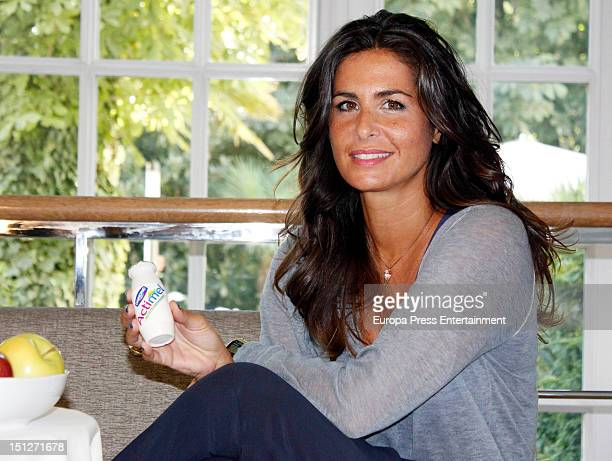 Nuria Roca is presented as the new image for the brand Actimel at santo Mauro Hotel September 4 2012 in Madrid Spain