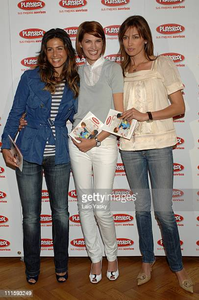 Nuria Roca Laura Sanchez and Nieves Alvarez during Playskool 'Sus mejores sonrisas' Photocall April 18 2007 at Las Letras Hotel in Madrid Spain