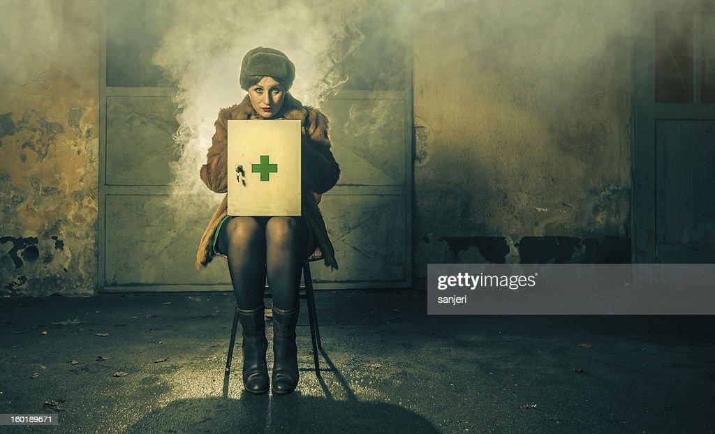 Nurse bizzare... : Stock Photo