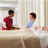 Nurse comforts patient