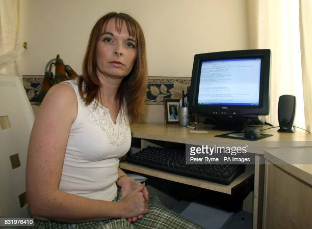 Nurse Helen Barrow of Littleborough Lancashire who was the first known UK victim to be held to ransom by computer frausdsters using Ransomware PRESS...