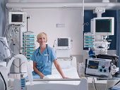 Nurse in intensive care