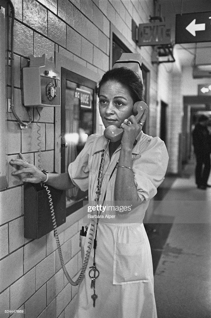 Nurse Joanne M McGarry at the Boston Children's Hospital Boston Massachusetts USA 19th March 1979