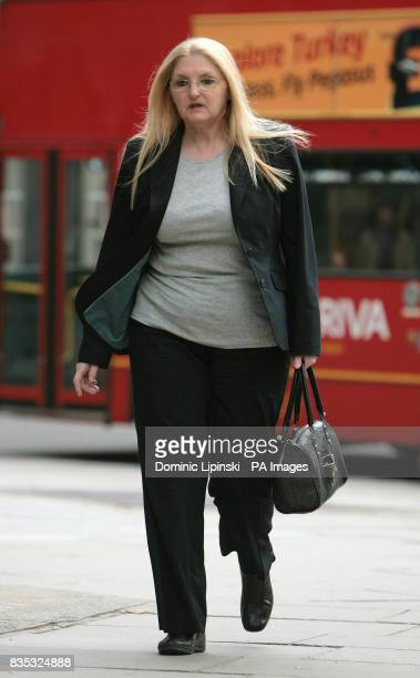 Nurse Margaret Haywood outside the Nursing and Midwifery Council in Holborn central London