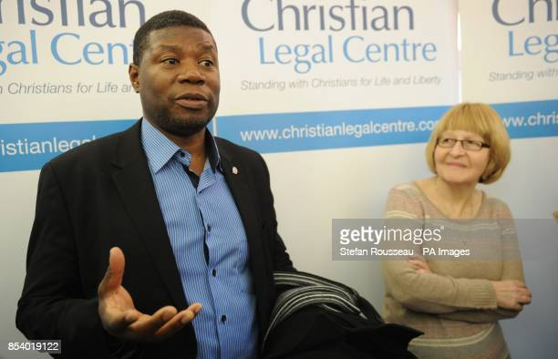Nurse Shirley Chaplain and marriage counsellor Gary McFarlane at their solicitors office in London today after they lost their European Court of...