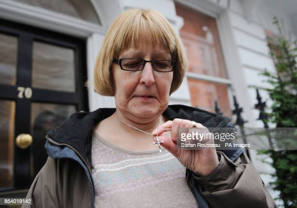 Nurse Shirley Chaplain at her solicitors office in London today after she lost her European Court of Human Rights case where she claimed she suffered...