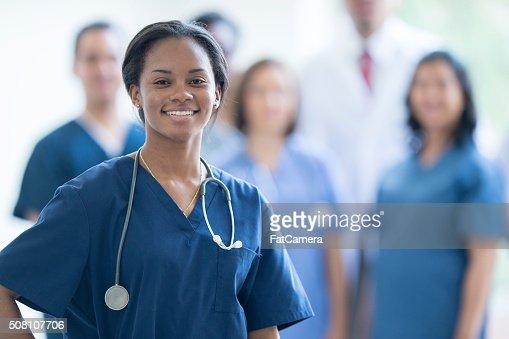 Nurse Smiling at Work