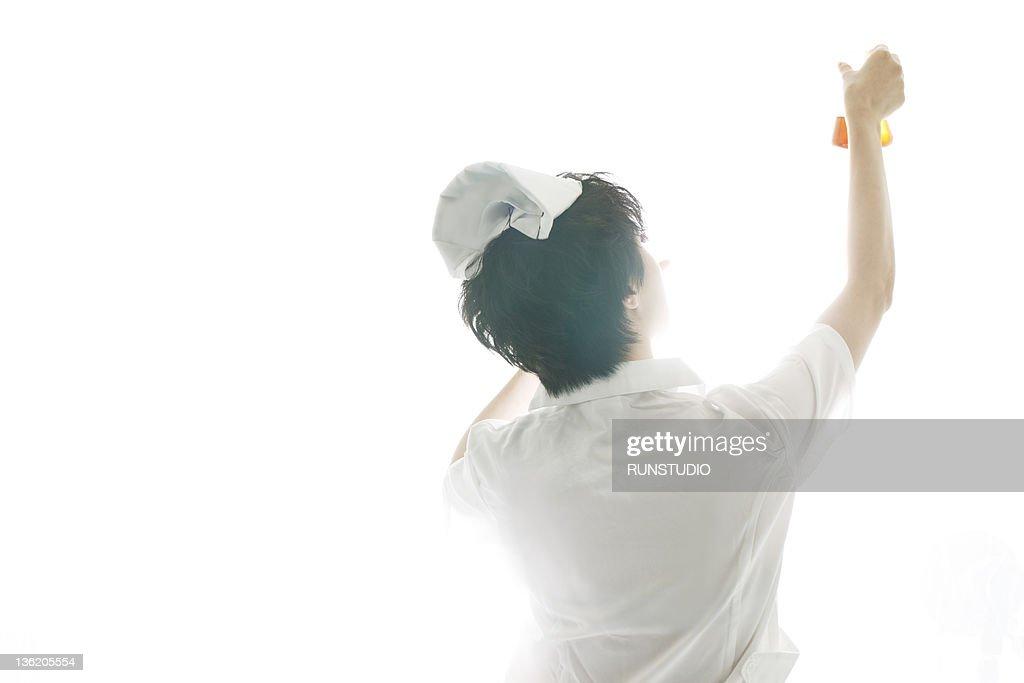 nurse with medicines : Stock Photo