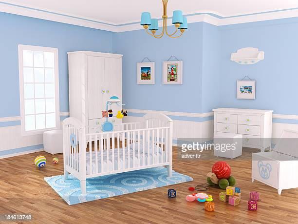 Kinderzimmer Zimmer (blau