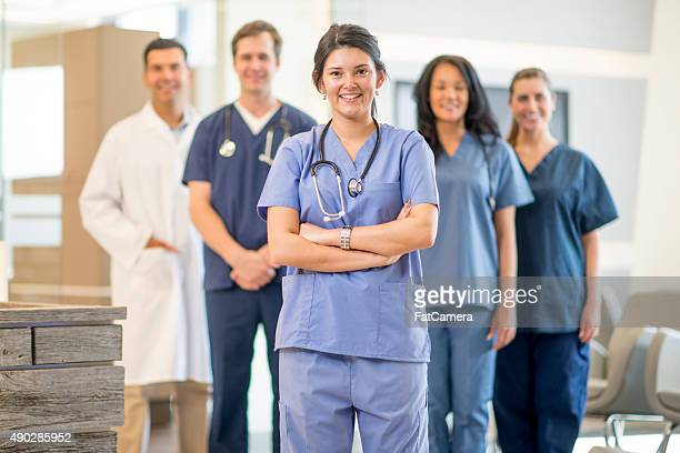 Nurses Ready for a Shift at the Hospital