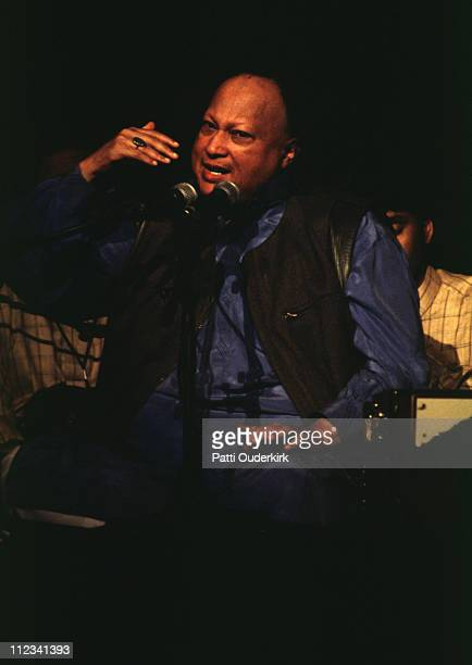 Nusrat Fateh Ali Khan during Nusrat Fateh Ali Khan in Concert at Radio City Music Hall 1996 at Radio City Music Hall in New York City New York United...