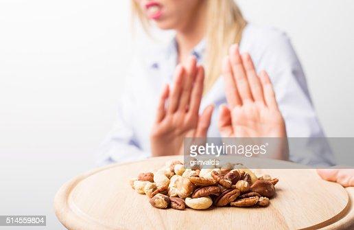 Nut allergies : Stock Photo