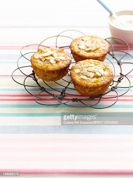 Nut muffins on cooling rack