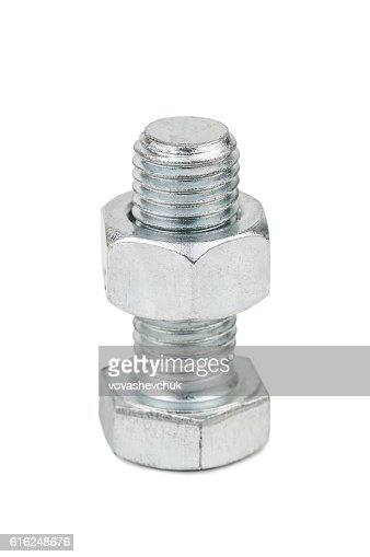 nut on bolt : Stock Photo