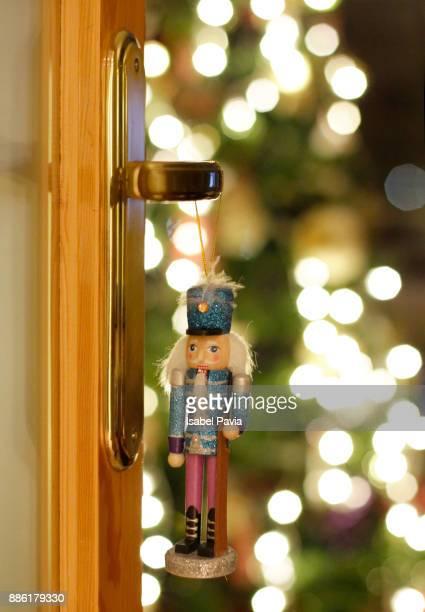 Nutcracker and Christmas bokeh