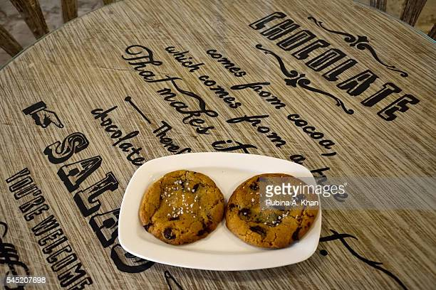 Nutella Sea Salt Cookies at Sweetish House Mafia a dessert cafe in Bandra on June 17 2016 in Mumbai India