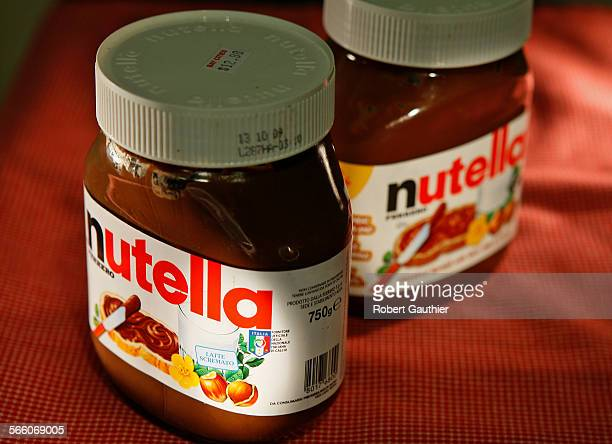 Nutella spread from Italy left and made for the USA in Canada