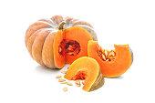 Nutmeg pumpkin isolated on white background