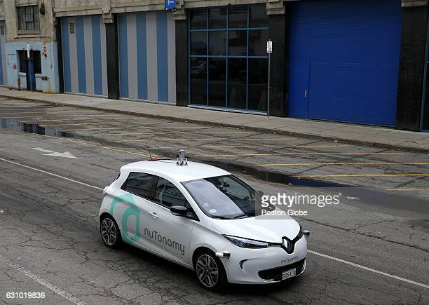 NuTonomy's driverless car the first to launch in Boston takes a spin around Drydock Ave in South Boston on Jan 4 2017